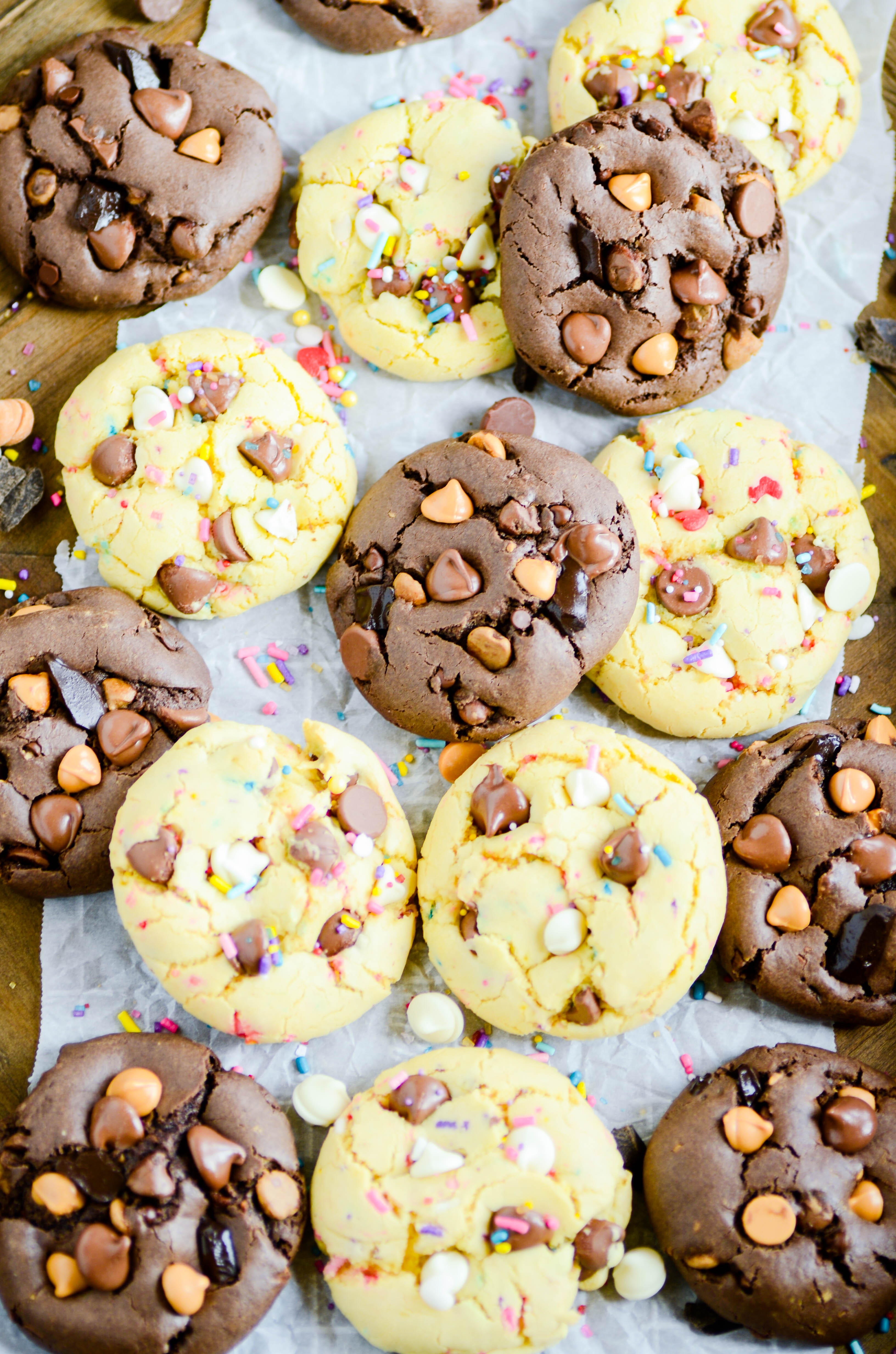 My favorite recipe for cake mix cookies. You can make so many different kinds of cookies with just one recipe!