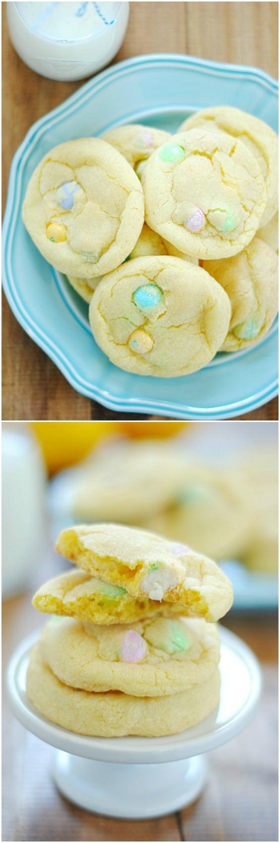 Lemon White Chocolate M&M Cookies