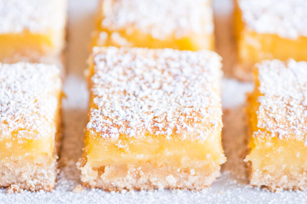 Ina Garten's Lemon Bars are so good! Imagine a buttery, delicious crust underneath a creamy lemon filling and a crispy sugary top.