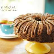 Pudding Filled Chocolate Cake | www.somethingswanky.com