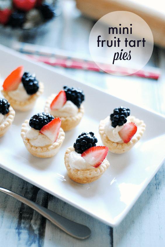 Mini Fruit Tart Pies | www.somethingswanky.com #fourthofjuly