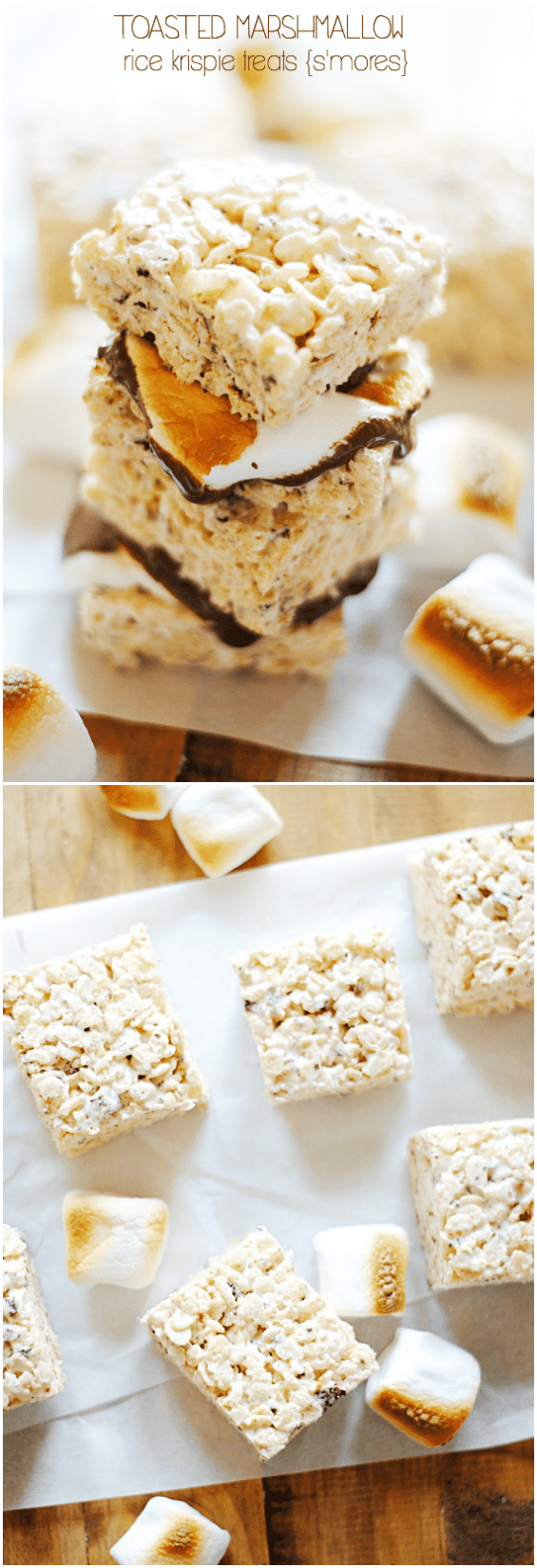 Toasted Marshmallow Rice Krispie Treats   www.somethingswanky.com