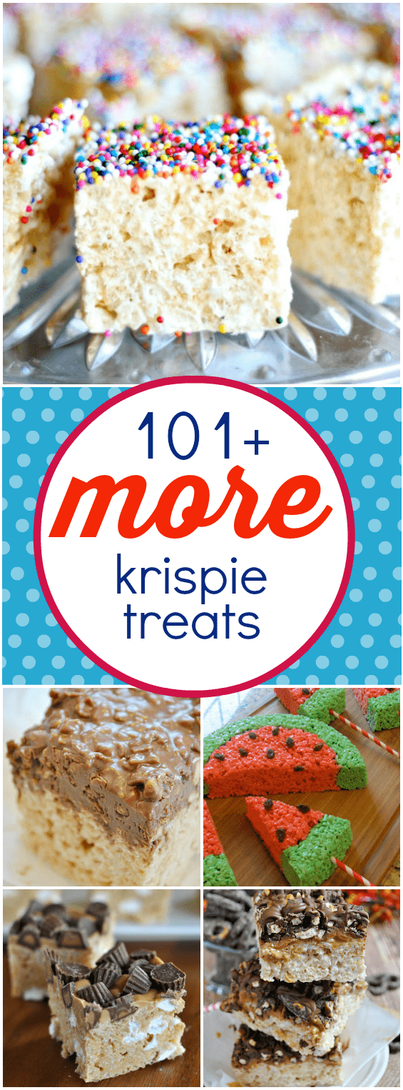 101+ More Krispies Treats | www.somethingswanky.com