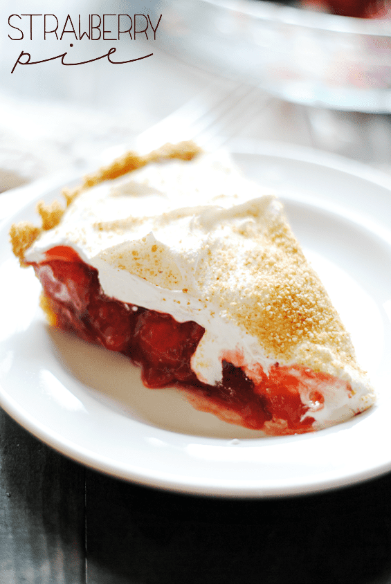 Strawberry Pie | www.somethingswanky.com