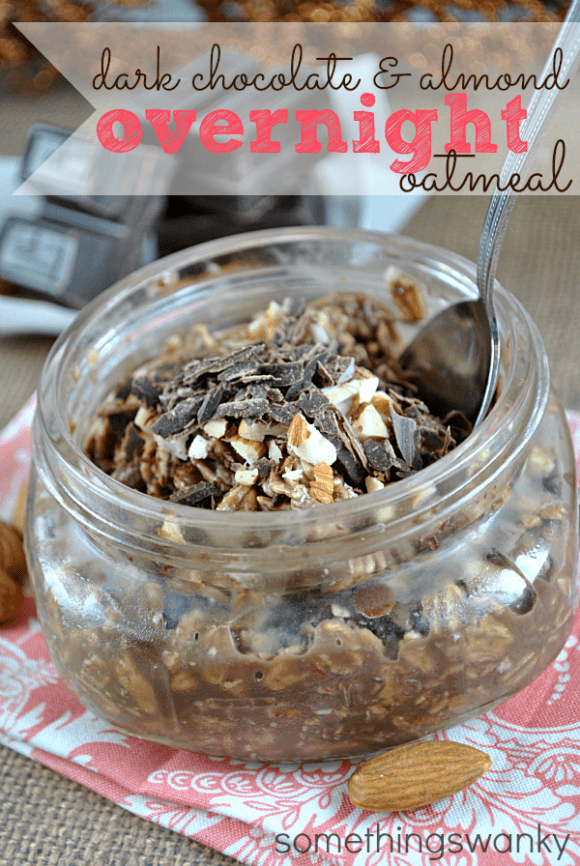 Dark Chocolate Almond Overnight Oats