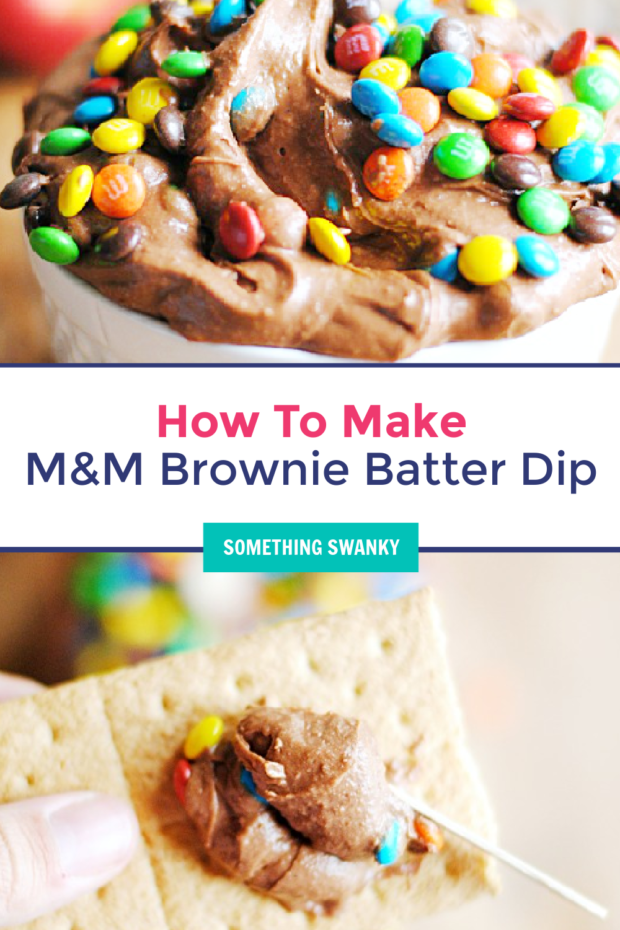 M&M Brownie Batter Dip