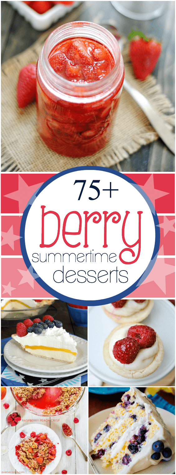 75+ Berry Summertime Desserts | www.somethingswanky.com