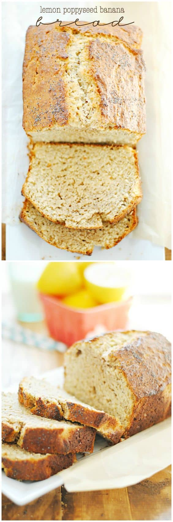 Lemon Poppyseed Banana Bread