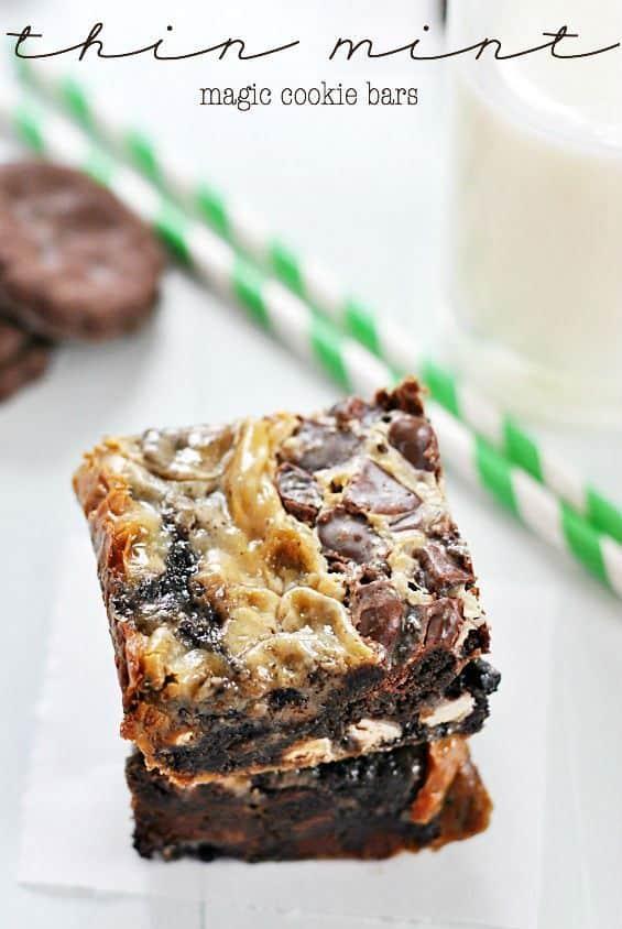 Thin Mint Magic Cookie Bar