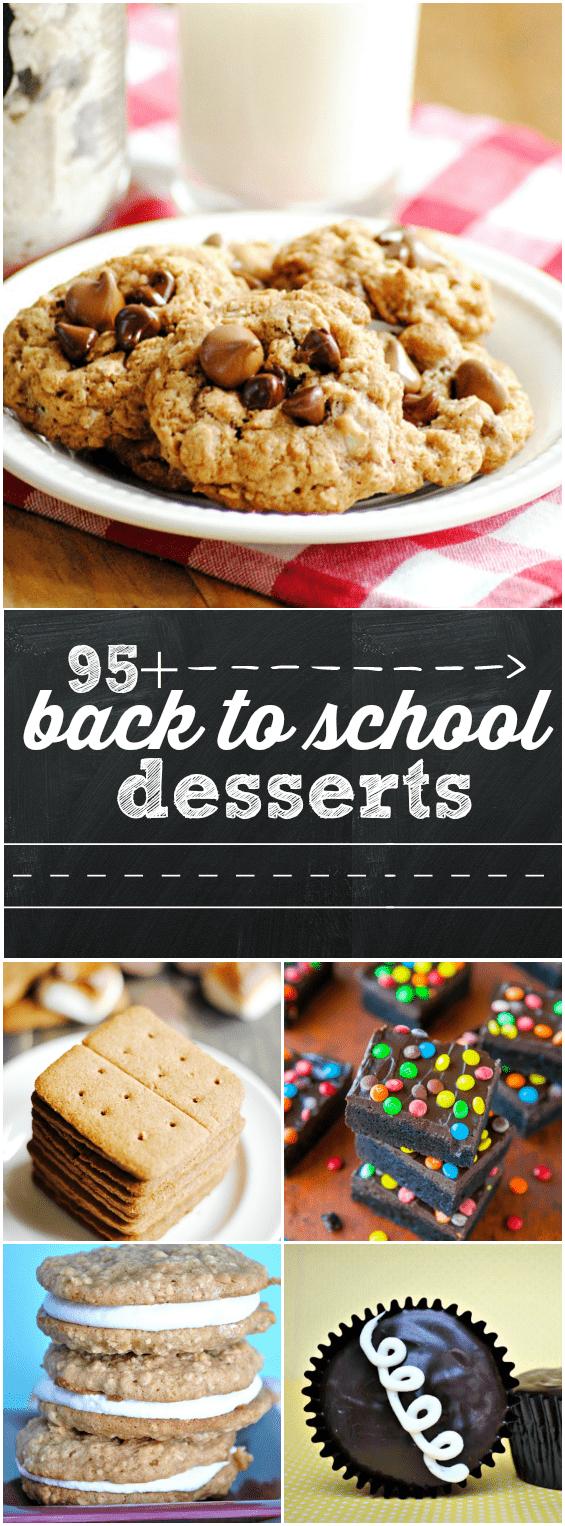 95+ Back to School Dessert Recipes | www.somethingswanky.com