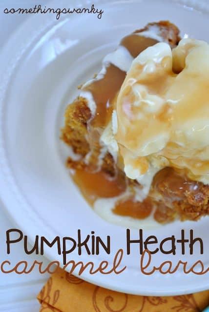 Pumpkin Heath Caramel Bars