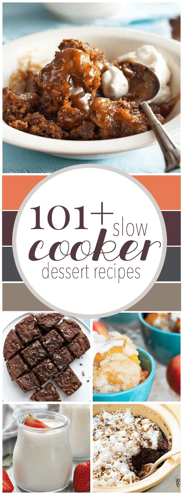 Over 100 Slow Cooker Dessert Recipes!