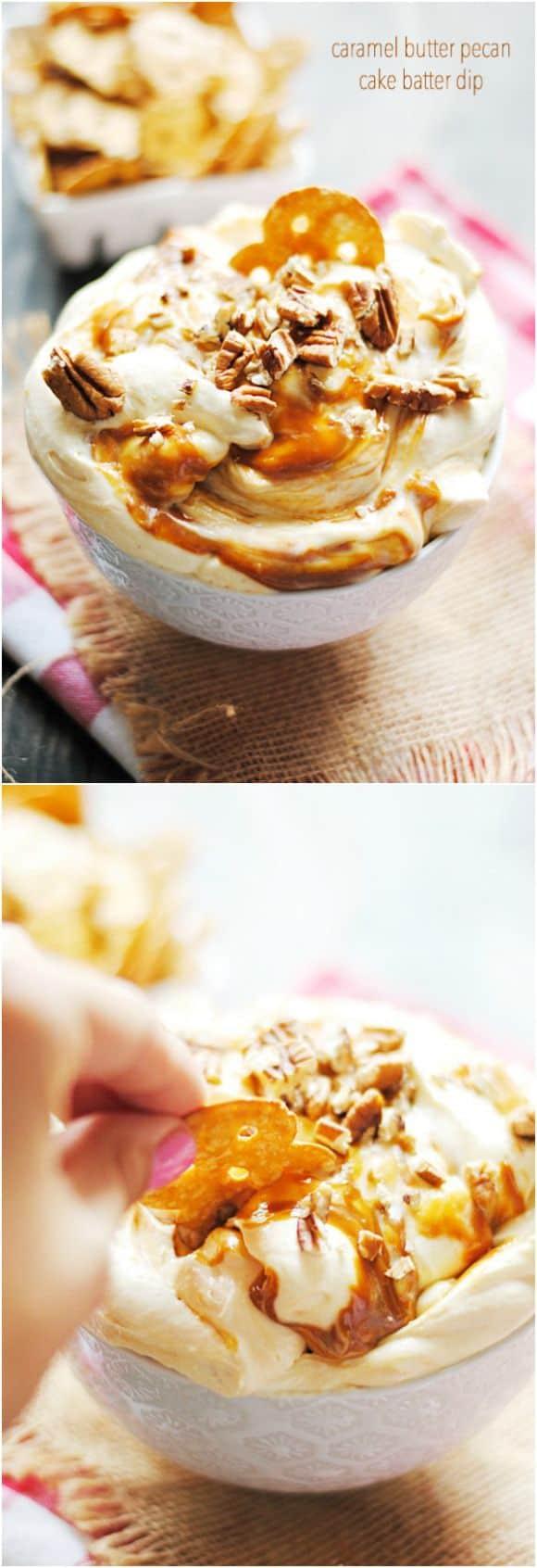 Caramel Butter Pecan Cake Batter Dip