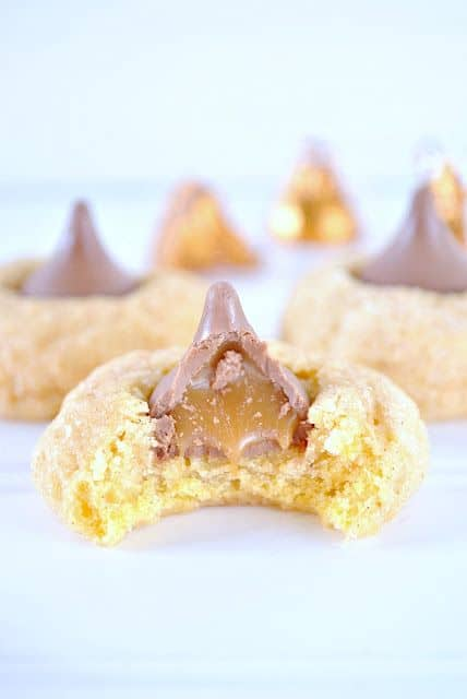 Pumpkin Caramel Kiss Cookies