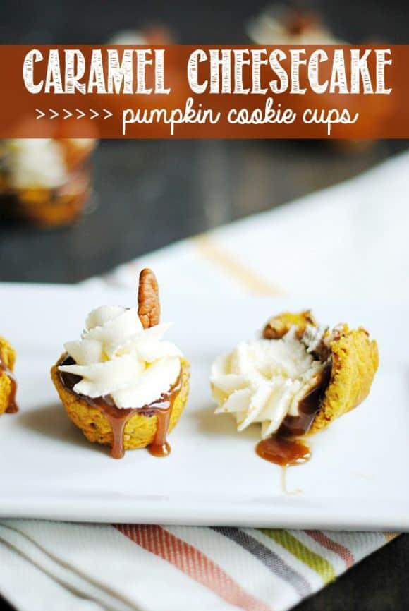 Caramel Cheesecake Pumpkin Cookie Cups