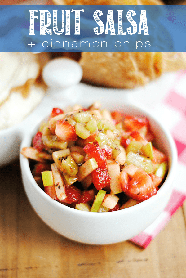This fruit salsa is delicious and so easy to make. It's one of our favorites for game day snacking or for entertaining any time! #FritoLayKickOffEntry