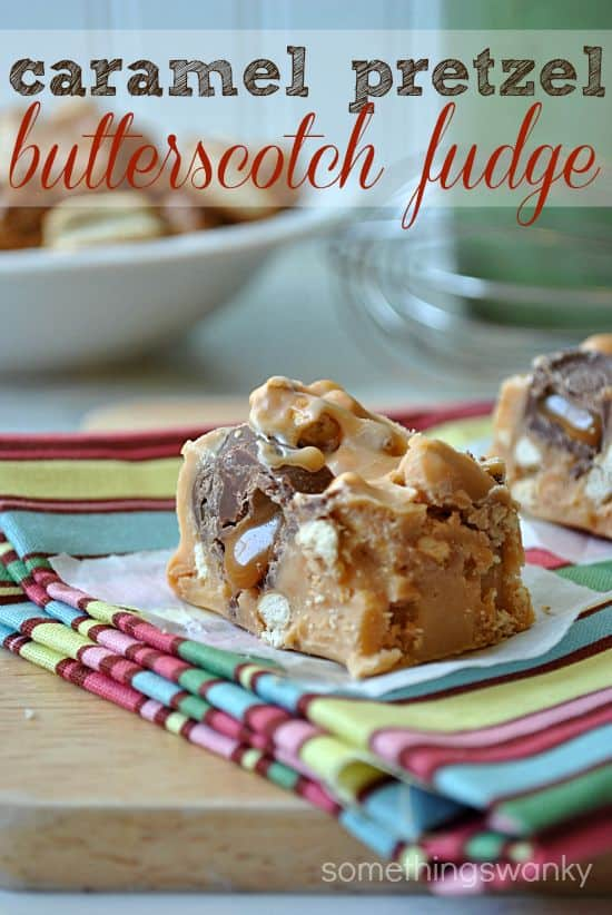 Salted Caramel Butterscotch Fudge