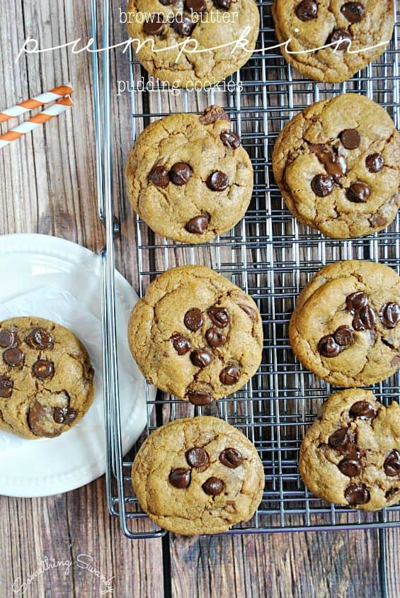 Browned Butter Pumpkin Pudding Cookies