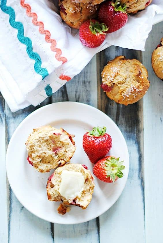 Strawberry Basil Muffins