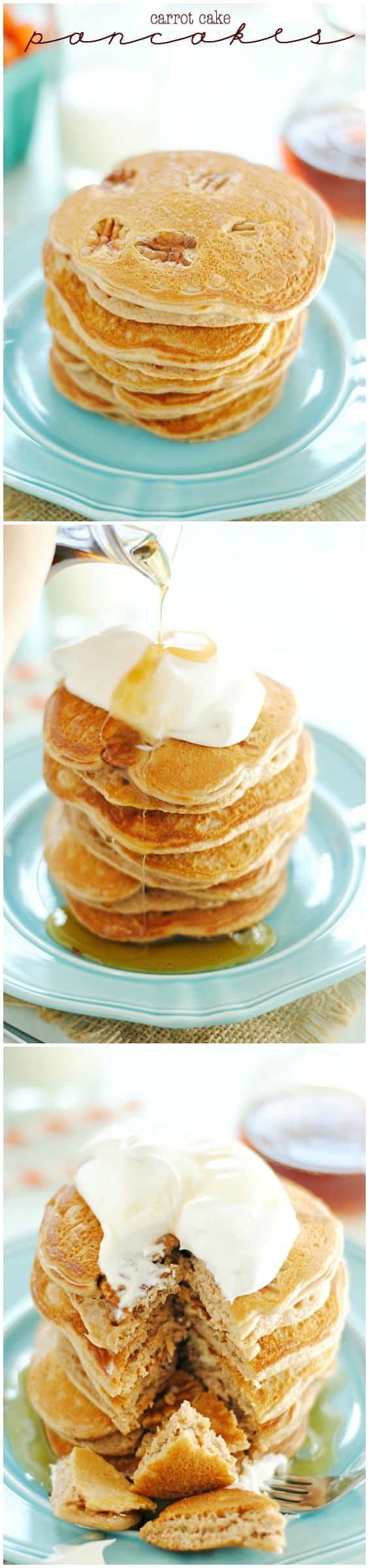 Carrot Cake Pancakes Made With Cake Mix