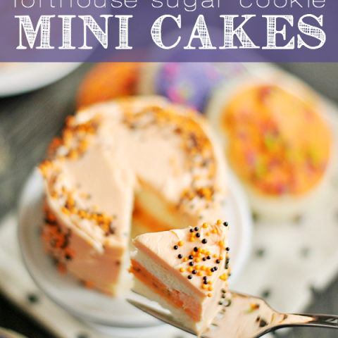 Lofthouse Sugar Cookie Mini Cakes are an adorable and EASY treat fun to make in any holiday colors (or even just classic pink)!