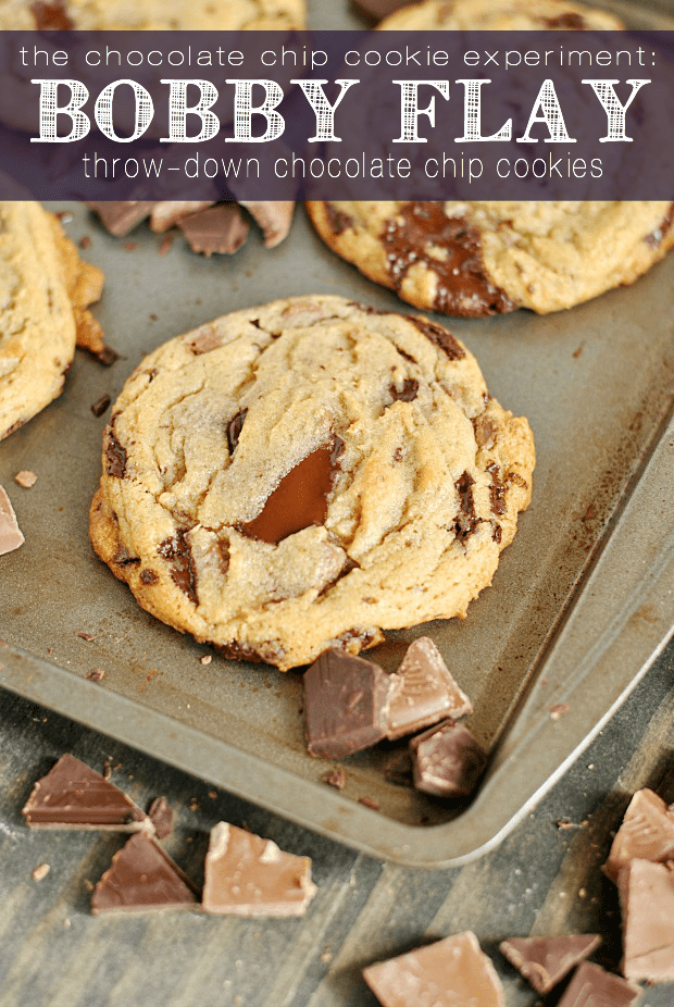 You'll fall in love with these melty pools of dark and milk chocolate in Bobby Flay's throw-down chocolate chip cookies!