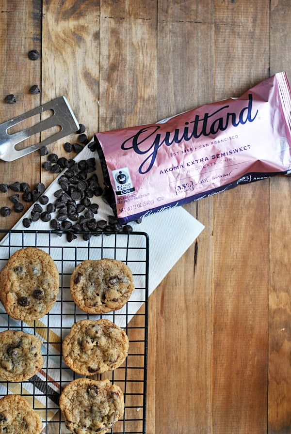 See how these Guittard Akoma Chocolate Chip Cookies weigh in in The Chocolate Chip Cookie Experiment! They're thin and chewy, and chock full of some serious chocolate chips.