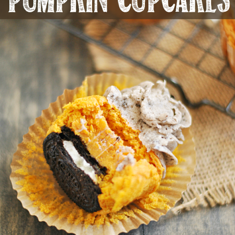 Cookies & Cream Pumpkin Cupcakes are sinfully delicious and so easy to make!