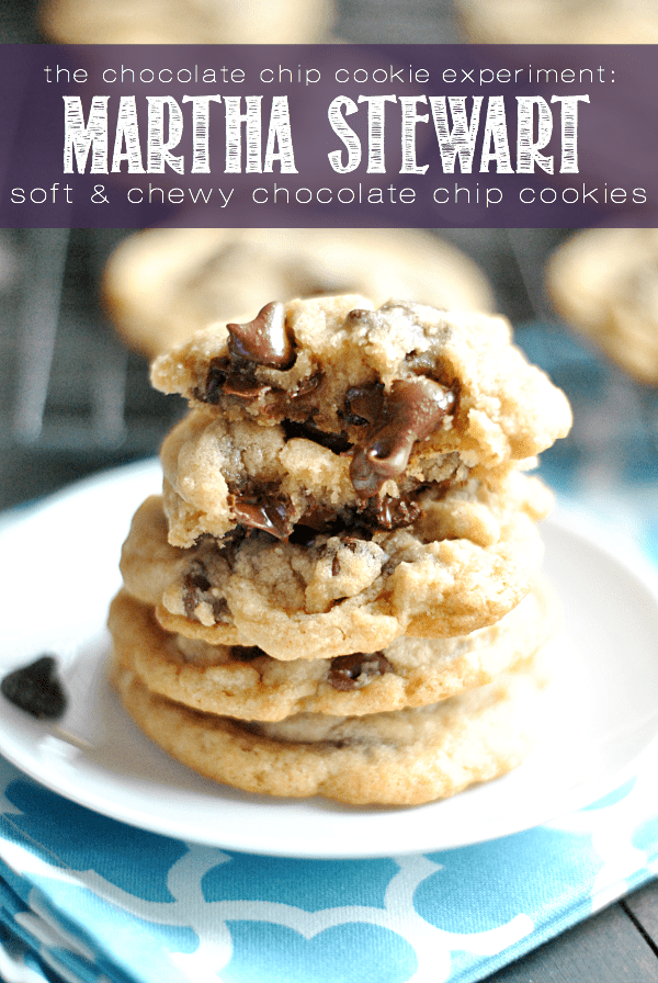 Recipe #3 in the Chocolate Chip Cookie Experiment: Martha Stewart's soft & chewy chocolate chip cookies. Come see why this recipe is the front runner in my quest to find the best CCC recipe!