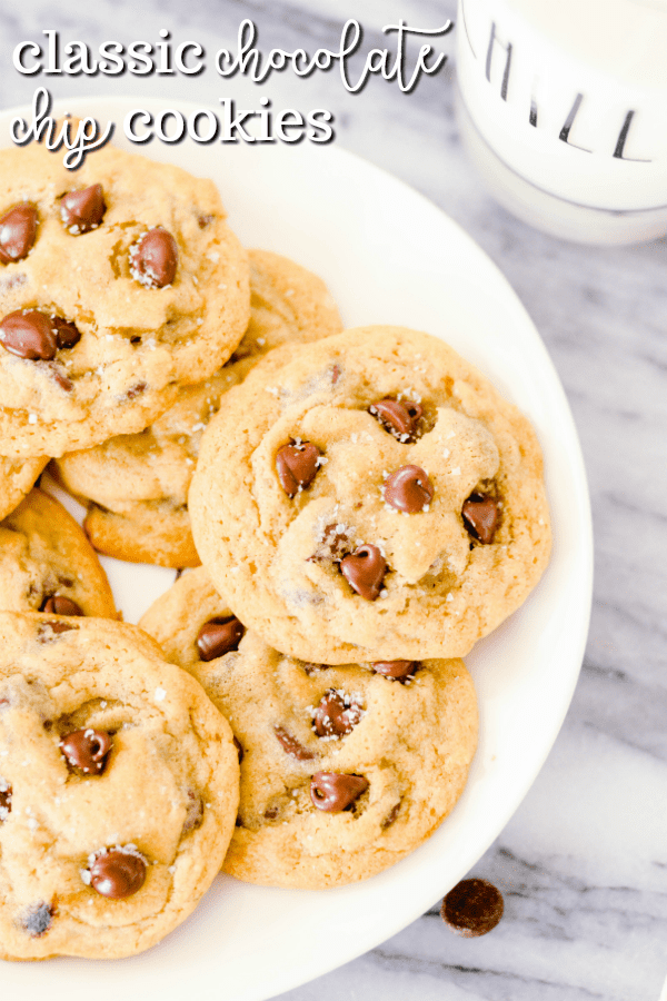 The most classic chocolate chip cookie recipe of all time! This Nestle Tollhouse Recipe is famous, and for good reason. With crispy edges and chewy middles, you can't go wrong with these absolutely perfect chocolate chippers.