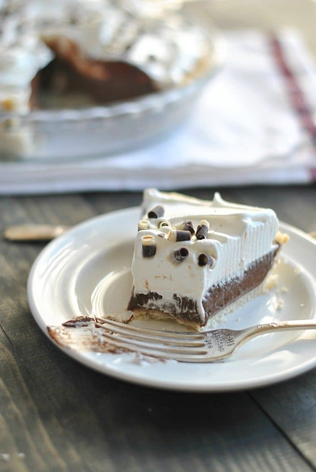 The chocolate cream pie is made from scratch and is absolutely divine!