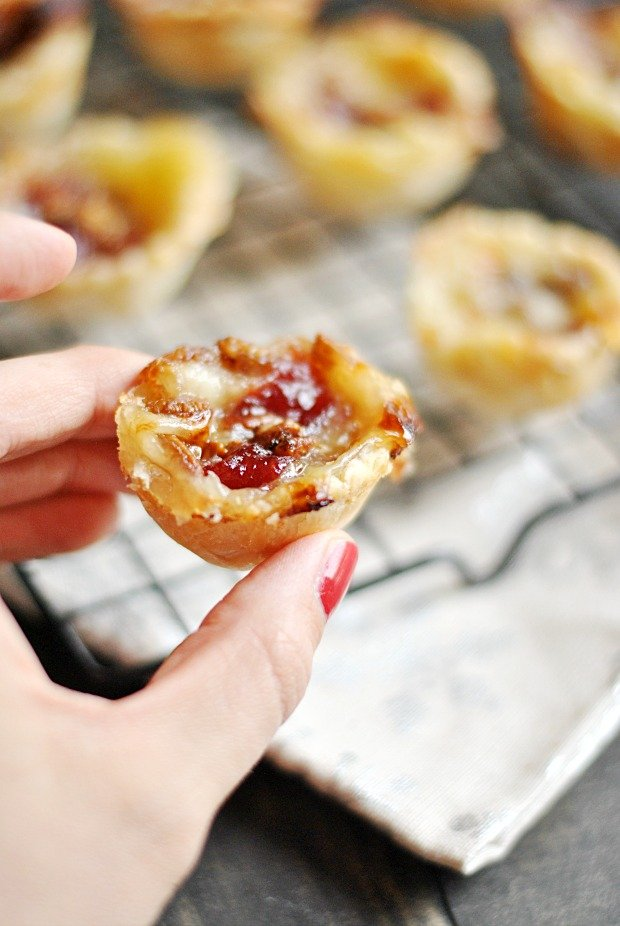 Cranberry Brie Mini Pies
