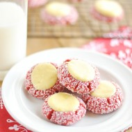 These Red Velvet Thumbprints are a cookie and cheesecake in one! Perfect for Christmas cookie plates and dangerously delicious.
