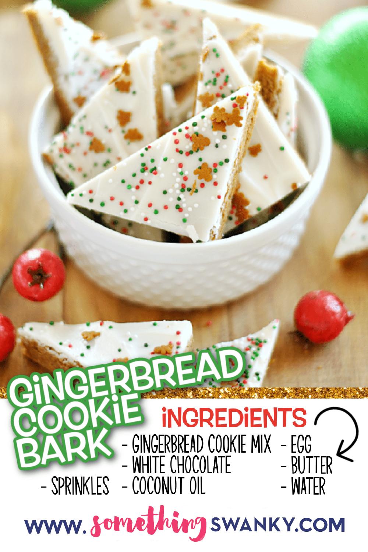 Gingerbread Cookie Bark Recipe