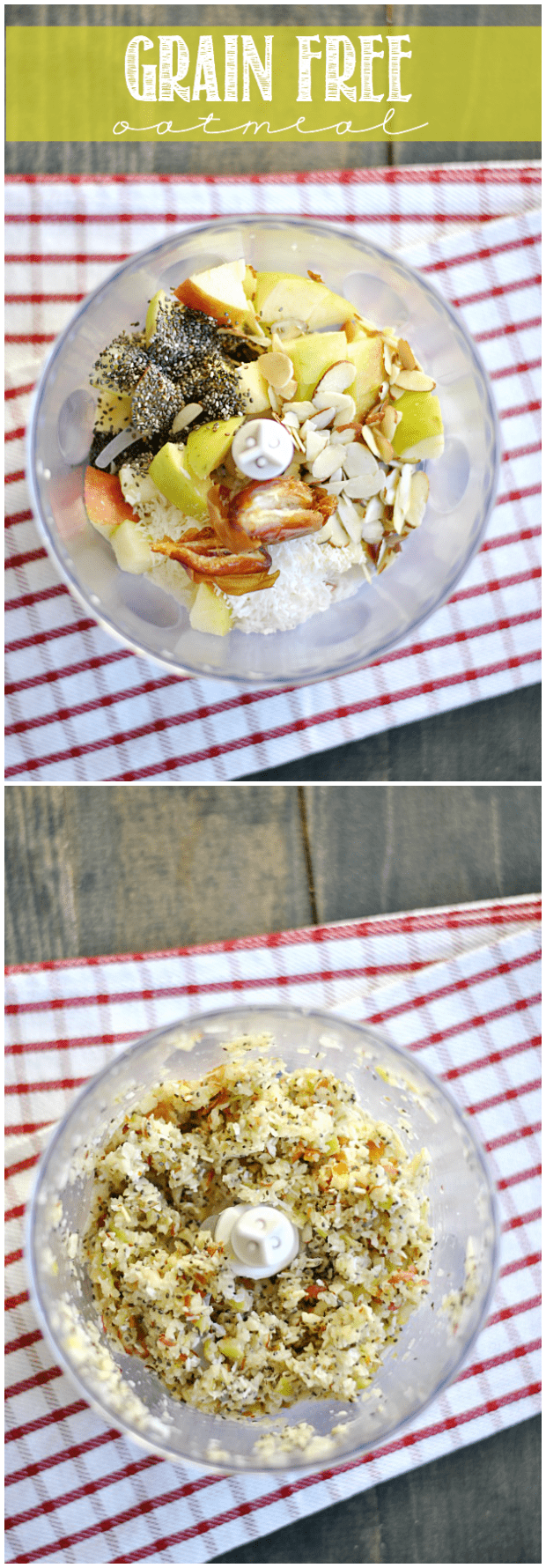 Seriously delicious grain free oatmeal. You'll want to try this healthy bowl whether your avoiding grains or not!