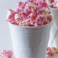 This Animal Cracker Popcorn is easy to make and a total crowd pleaser! From the Party Popcorn Cookbook