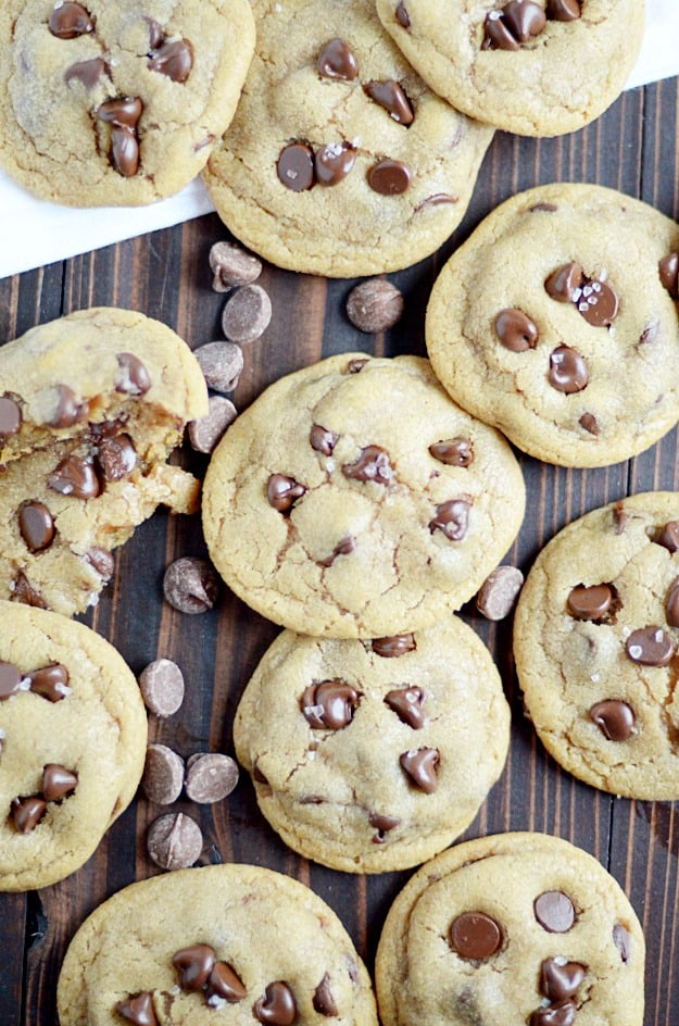 Browned Butter gives these chewy chocolate chip cookies a rich toffee flavor. Delicious!