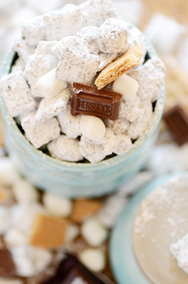 Muddy Buddies with a summertime s'mores twist!