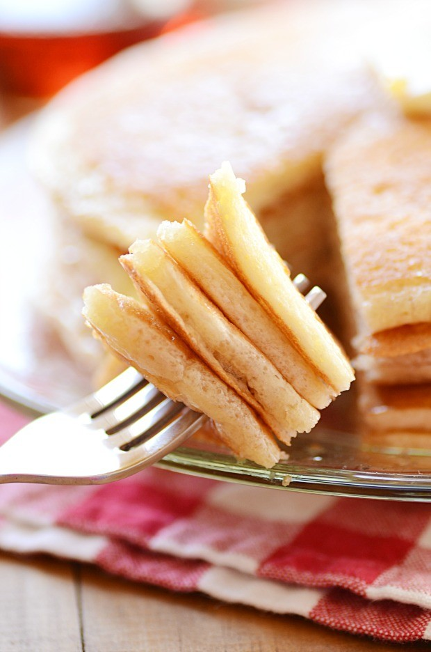 Perfectly light, fluffy, and HUGE Diner Style Pancakes