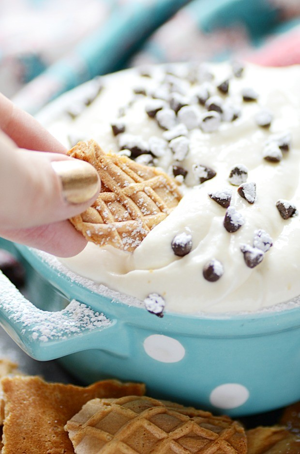 Cannoli Dip is so yummy and easy to make!