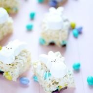 Easter Krispie Treats with M&Ms and Peeps