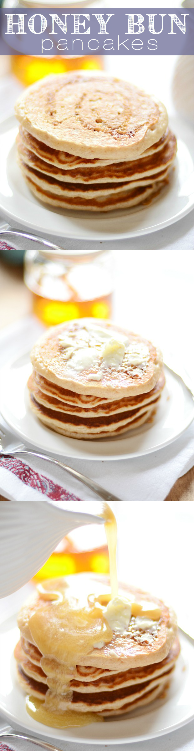 It's a Honey Bun! But in the form of  a warm, fluffy, delicious pancake smothered in Buttermilk syrup...