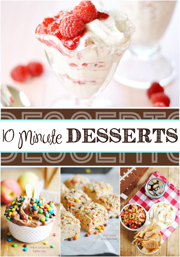 Quick and easy desserts that can be made at the last minute with ingredients you probably already have on hand!