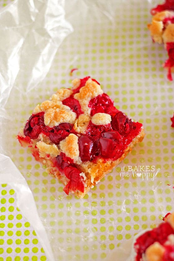 Cranberry Lime Crumb Bars