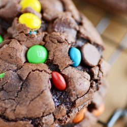 M&M Brownie Cookies