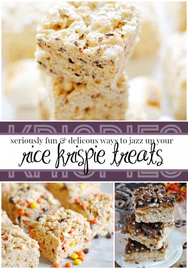 Creative and deliciuos ways to jazz up your rice krispies treats recipes!
