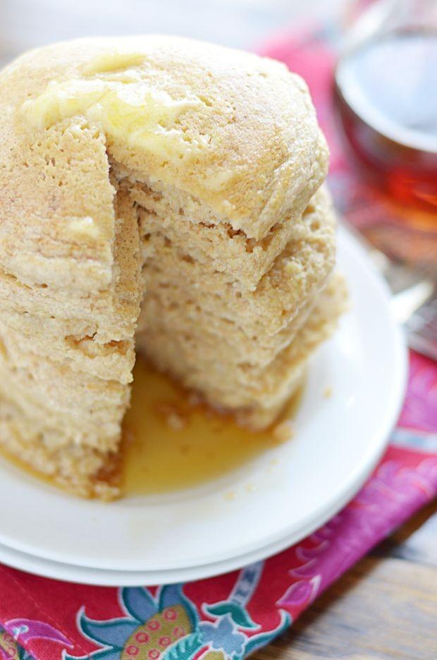Soft & Fluffy Whole Wheat Pancakes @lovemysilk