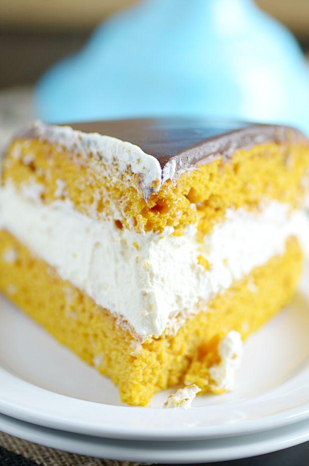 Pumpkin Boston Cream Pie
