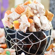 Candy Corn Peanut Butter Pretzel Munch