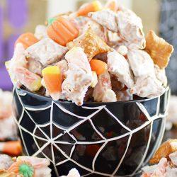 Candy Corn Peanut Butter Pretzel Munch